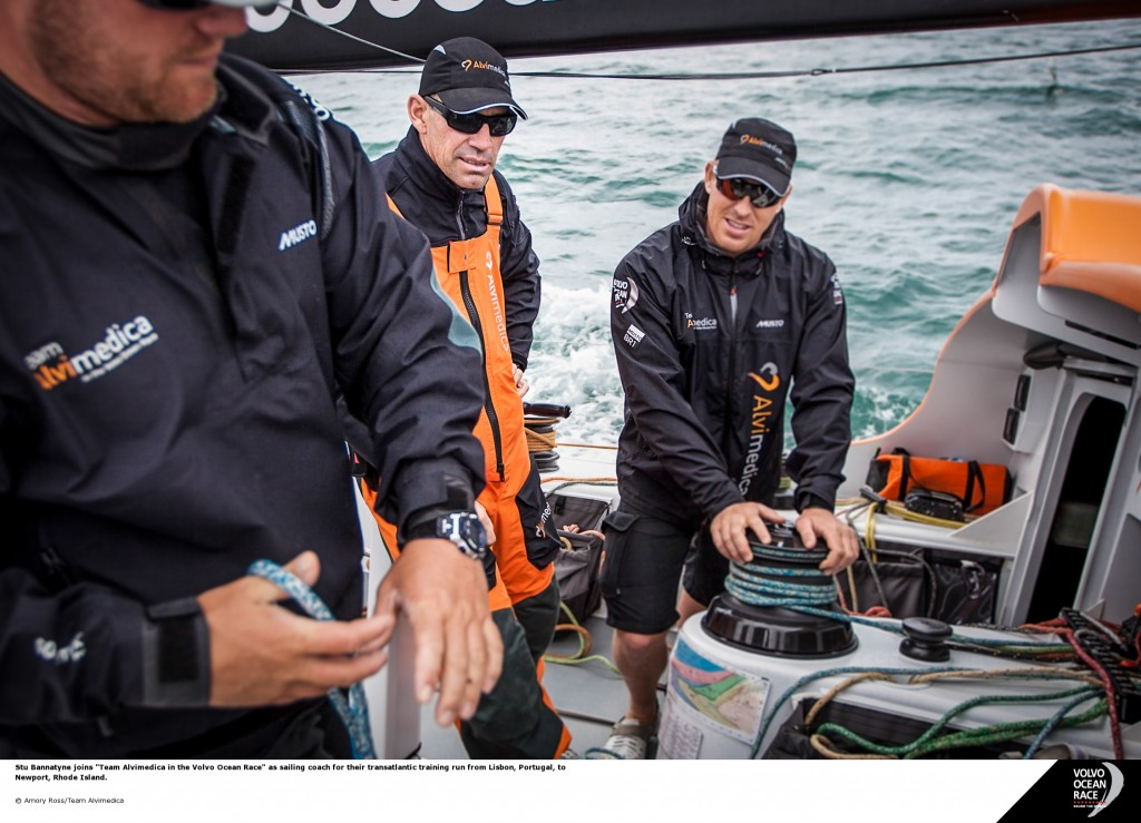 Stu Bannatyne a bordo di Alvimedica. Foto Martin Raget
