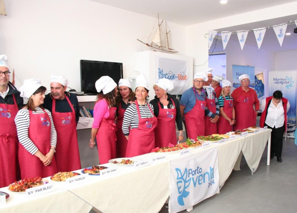 I partecipanti presentano le loro gustose ricette