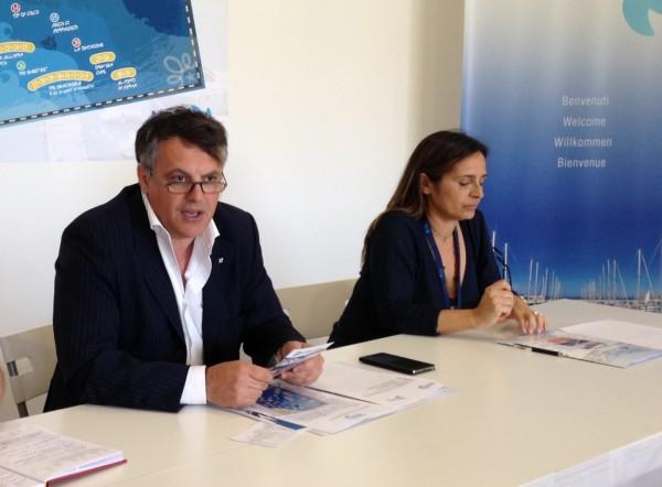 Un momento della conferenza stampa in cui sono stati annunciati il nuovo Presidente del Marina, Giulio Stanzione, e le nuove attività legate al porto turistico