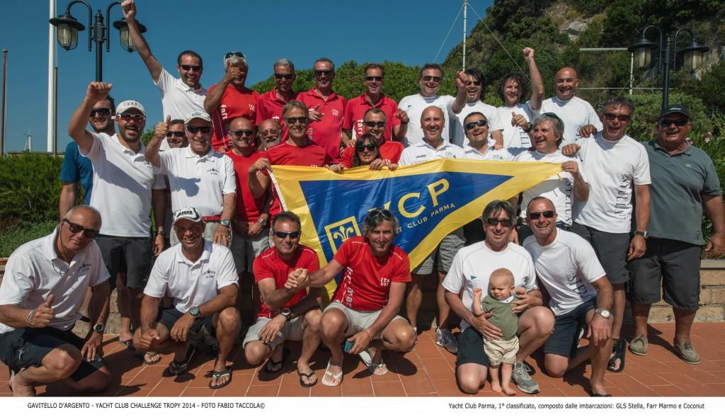 La squadra vincitrice dello YC Parma. Foto Taccola