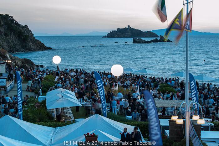 Punta Ala durante la serata di gala della 151 Miglia. Foto Taccola