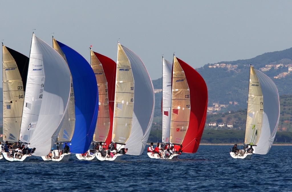 Melges 24 in regata a Marina di Scarlino. Foto CNS