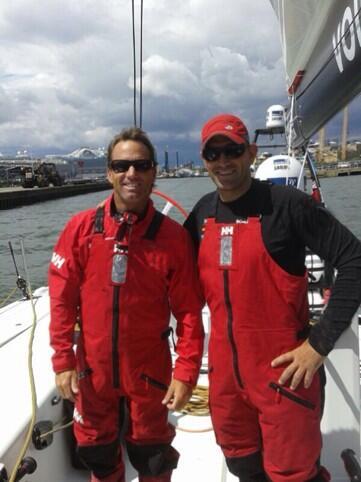 Iker Martinez e Xabi Fernandez sul VO65 Team Campos
