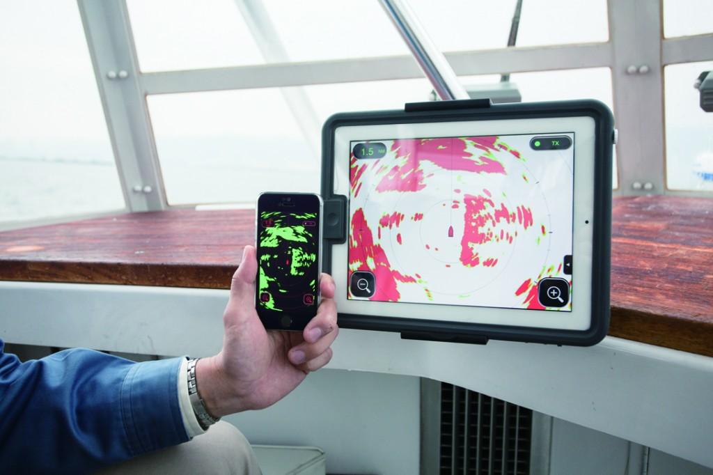 DRS4W di Furuno trasforma il proprio tablet o smartphone Apple in un vero e proprio schermo radar.