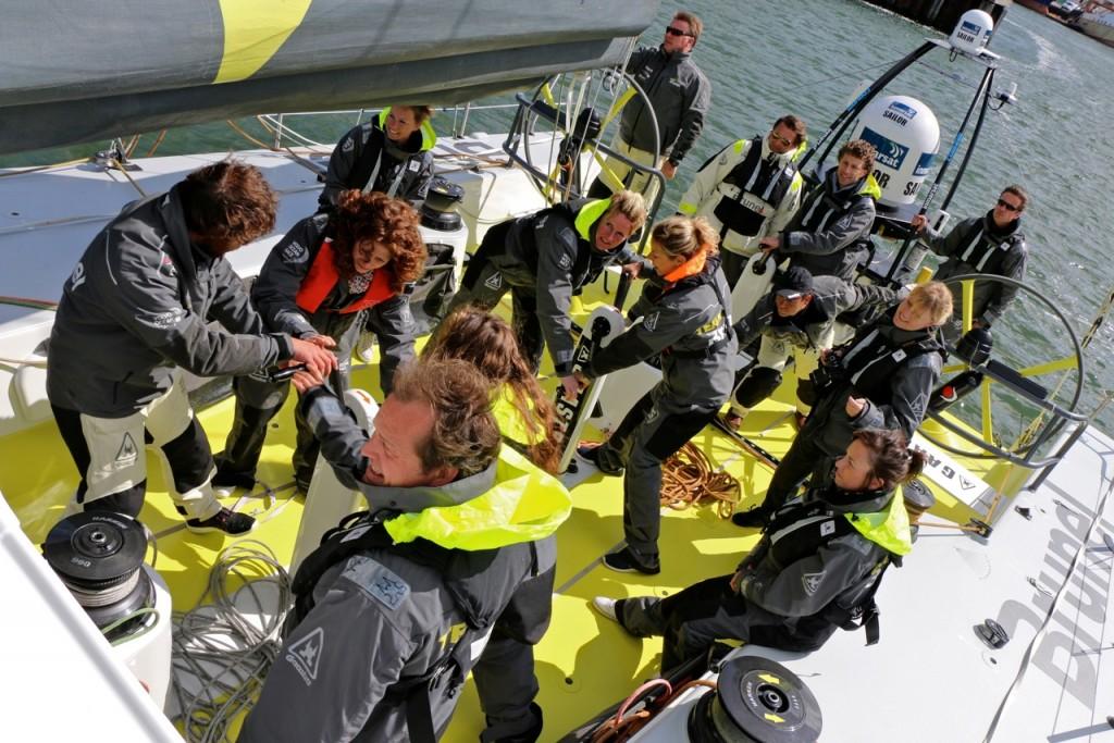 Gli uomini Gaastra a bordo di Team Brunel
