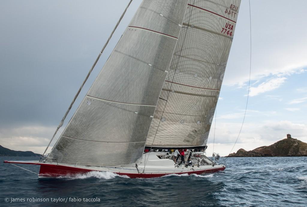 Pendragon all'arrivoa Punta Ala. Foto Taylor/Taccola