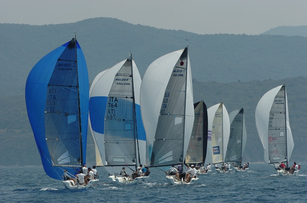 Melges 24 in regata a Scarlino. Foto Covato
