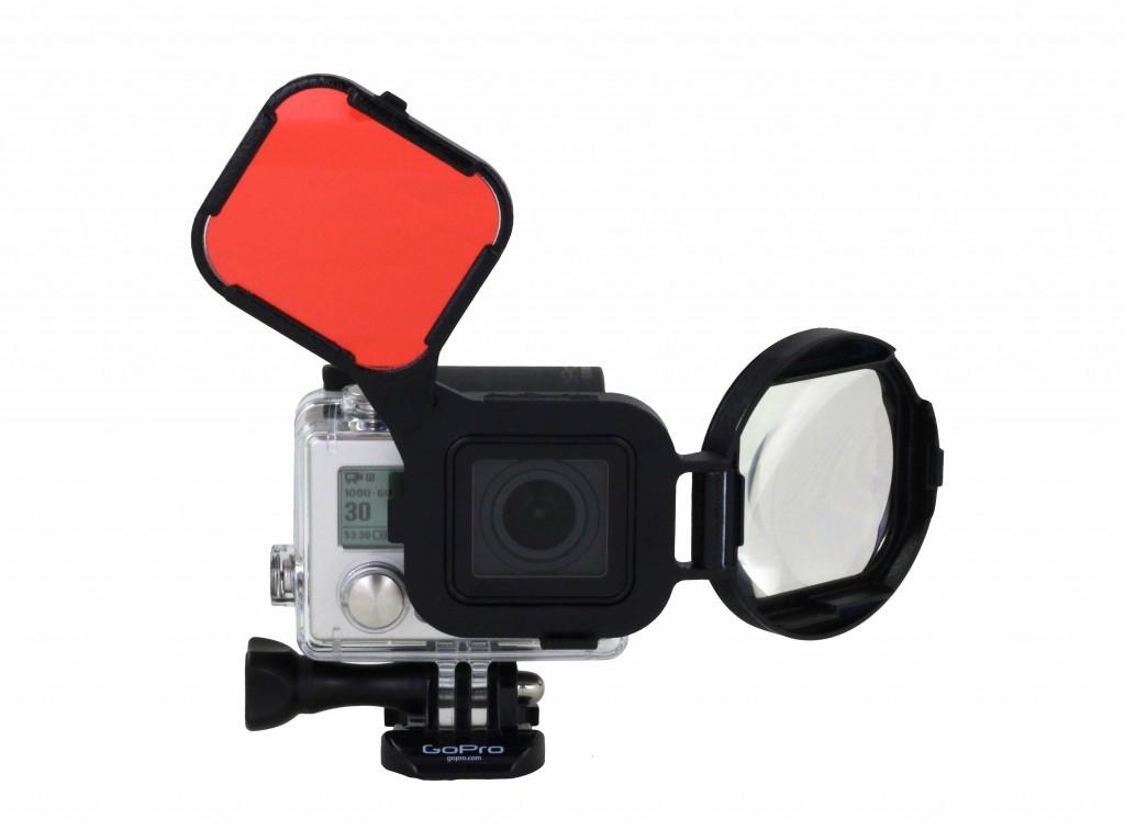 Il filtro per GoPro HERO3+  Switchblade Rosso/Macro. Prezzo: euro 69