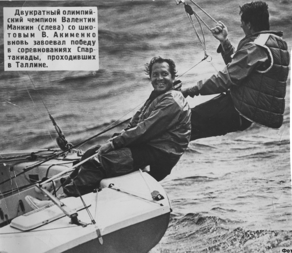 Kiel 1972, sede velica delle Olimpiadi di Monaco. Valentin Mankin sorride felice per il suo secondo oro, questa volta in Tempest dopo quello del 1968 in Finn ad Acapulco. Foto concessa da Luca Bontempelli