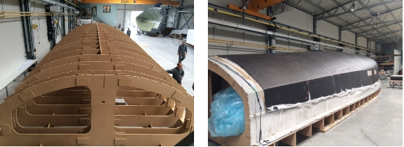 Iniziati i lavori di costruzione dello scafo e della coperta, realizzati principalmente in carbonio e resina epossidica