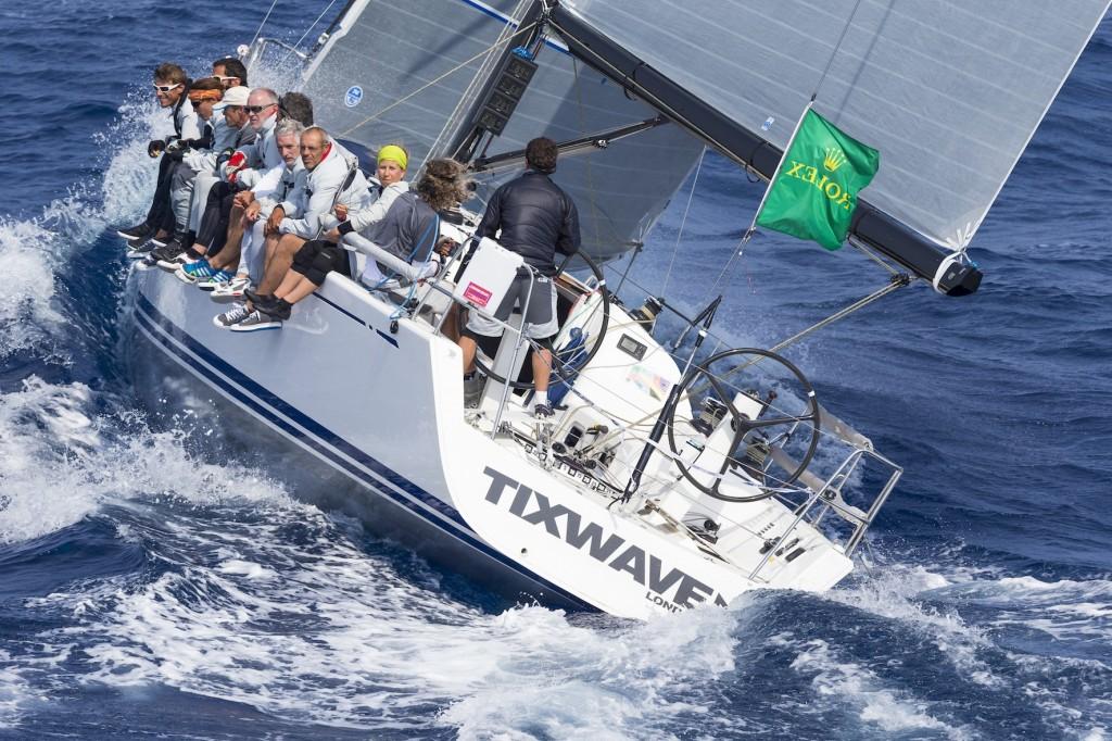 Lo Swan 42 Tixwave, vincitore overall della Giraglia 2014. Foto Borlenghi