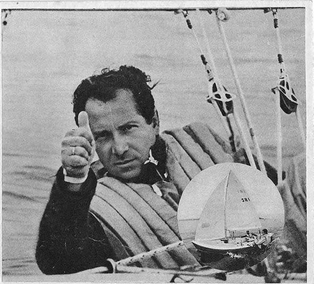 Valentin Mankin all'epoca del secondo oro, in Tempest a Kiel 1972. Courtesy Luca Bontempelli