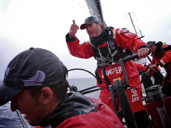 Rob Salthouse su Camper durante l'ultima edizione della Volvo Ocean Race