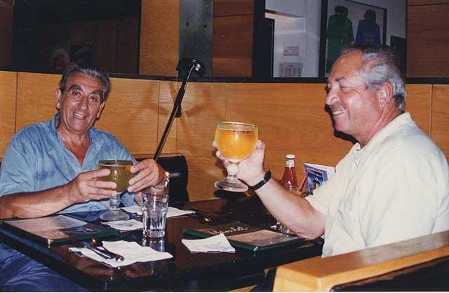 Mankin con l'allora presidente FIV Sergio Gaibisso all'epoca della sua venuta in Italia per Barcellona 1992. Foto concessaci da Luca Bontempelli
