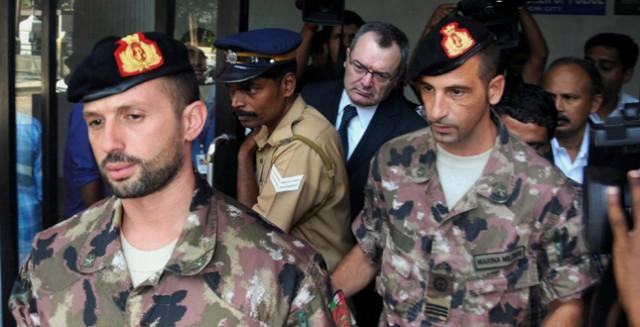 I fucilieri di Marina Massimiliano Latorre e Salvatore Girone, iaccusati di aver ucciso due pescatori locali e da due anni detenuti in carcere in India