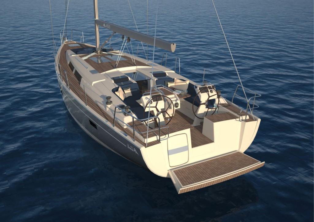 Il pozzetto del nuovo Hanse 445 è organizzato per offrire il massimo del comfort a skipper e ospiti