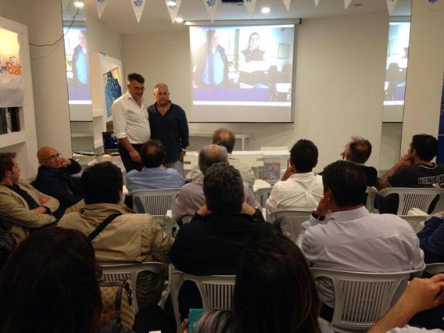 """Un momento della presentazione dell'iniziativa """"Sulla rotta della speranza"""" al marina di Ragusa"""