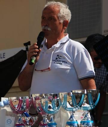 Il presidente della LNI di Pomezia Mauro Zecca