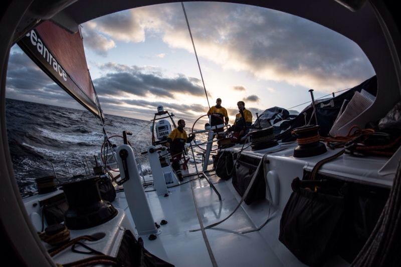 Team Campos durante la regata. Foto Vignale