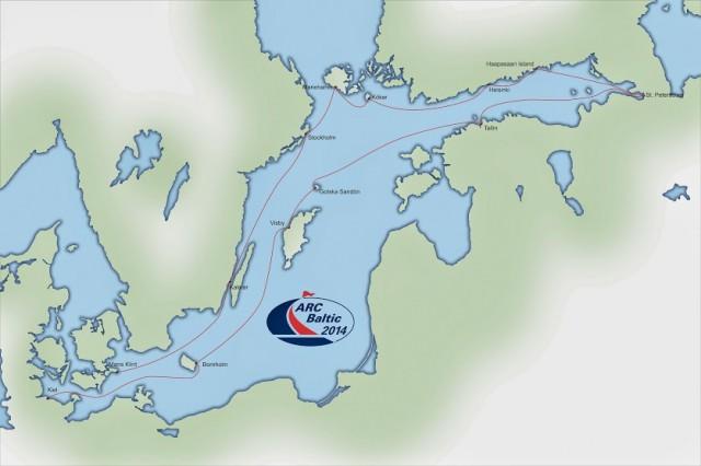 L'itinerario della prima edizione dell'ARC Baltic