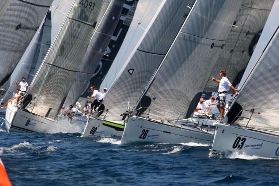 Barche IRC in regata a Porto San Rocco