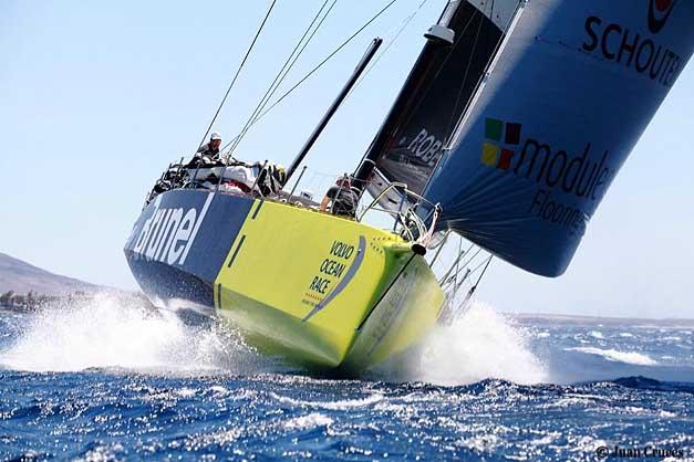Team Brunel alla partenza da Marina Rubicon, Lanzarote