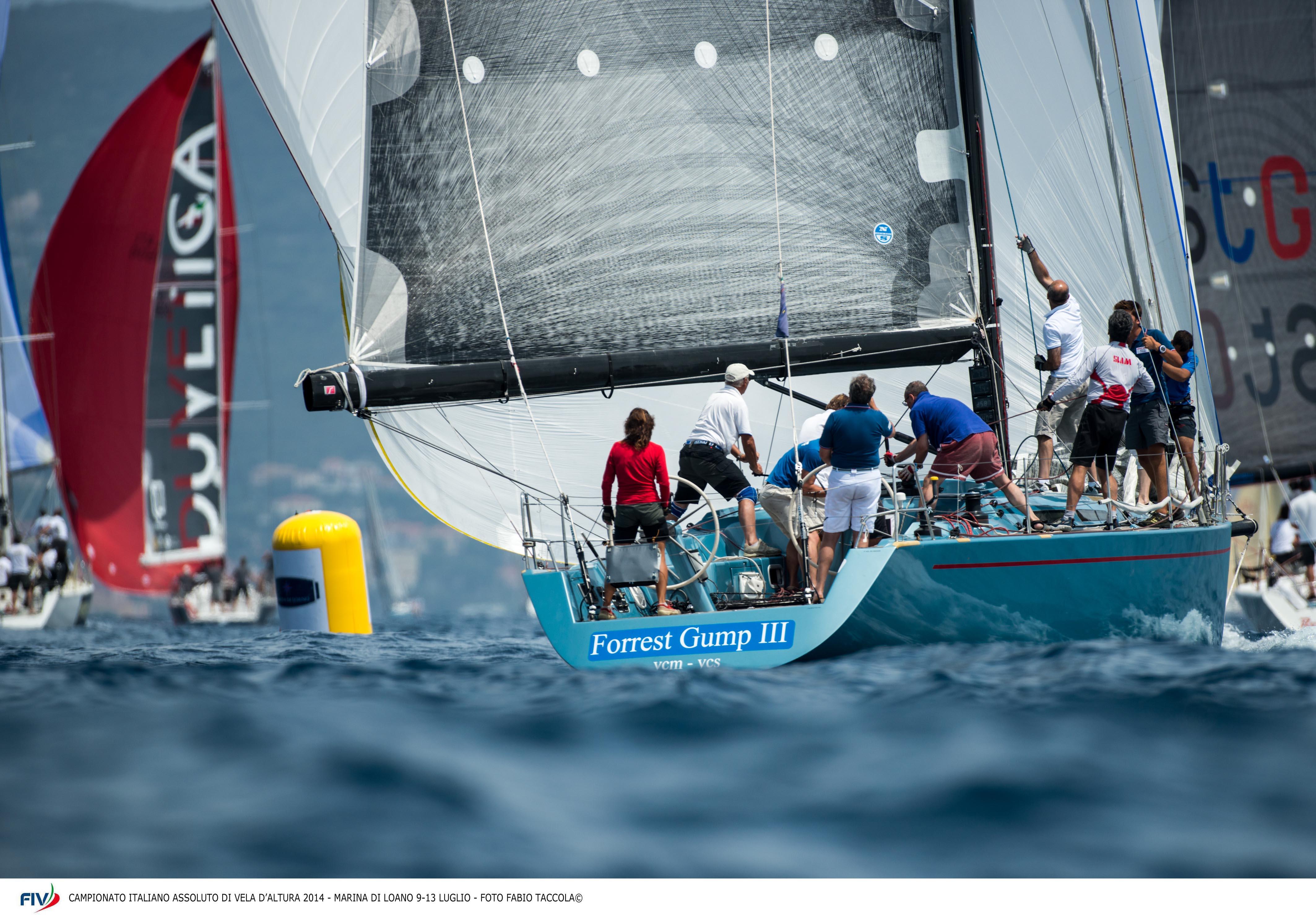 In regata al Campionato Italiano Altura. Foto Taccola