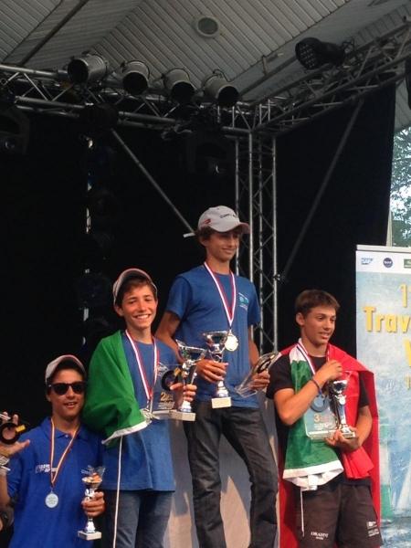 Il podio tricolore di Travemunde