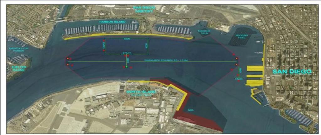 Il campo di regata proposto nella Baia di San Diego