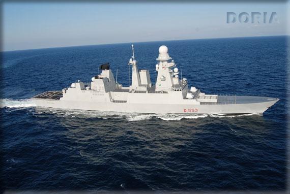 Il Cacciatorpediniere DDG Andrea DORIA (D553) appartiene alla classe di Unità Navali denominata Orizzonte. Concepita per essere impiegata principalmente nell'ambito della difesa aerea, è in gradi di assolvere numerose tipologie di missione fra le quali spiccano la protezione di formazioni navali e di convogli, il contrasto a unità subacquee e di superficie, il concorso ad operazioni anfibie, il controllo del traffico mercantile e l'impiego in missioni a carattere umanitario/sanitario