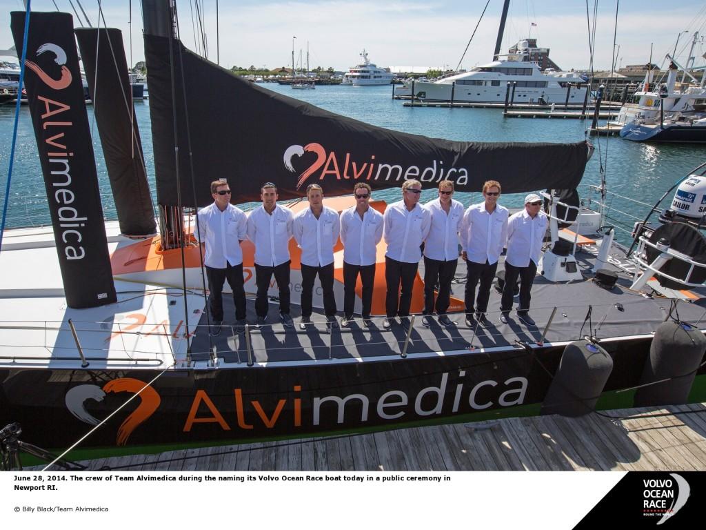 L'equipaggio di Alvimedica a Newport