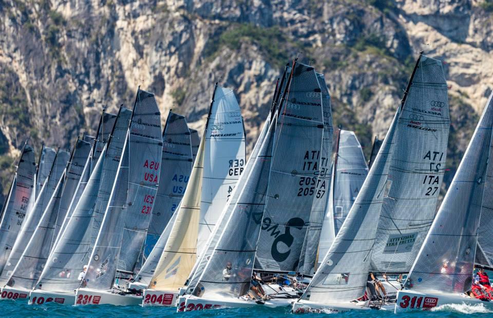La flotta dei Melges 20. Foto Studio Borlenghi
