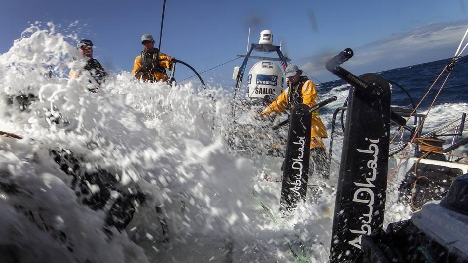 A bordo di Azzam nelle ultime miglia della regata. Foto ADOR