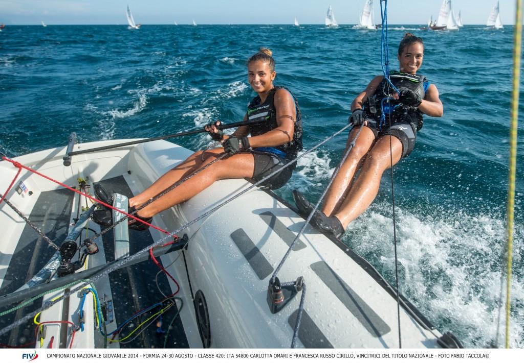 Carlotta Omari e Francesca Russo Cirillo sul 420. Foto Taccola