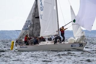 Mollicona in regata in Svezia