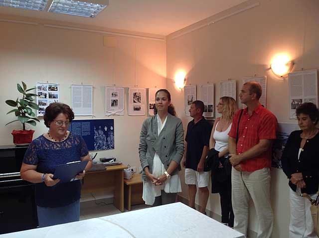 Anna Maria Saganic all'inaugurazione della Mostra