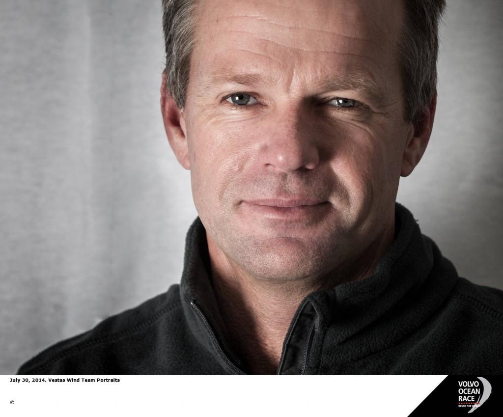 Chris Nicholson, australiano, sarà lo skipper di Vestas. nella scorsa edizione lo era stato di Camper. Foto
