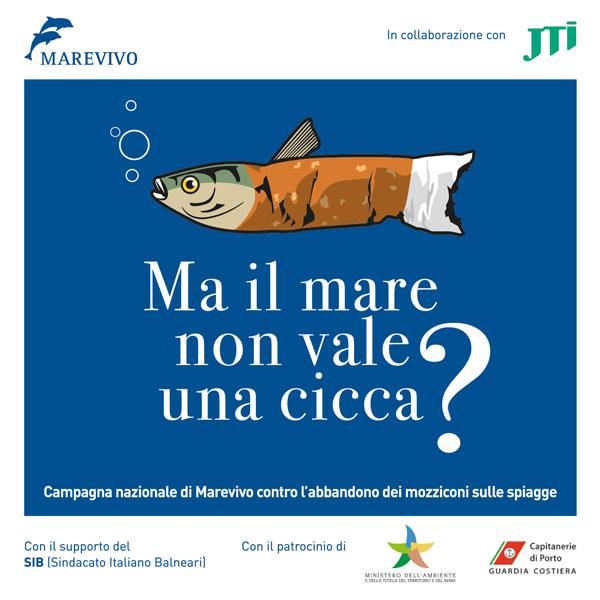 Il logo della campagna di sensibilizzazione condotta da Marevivo