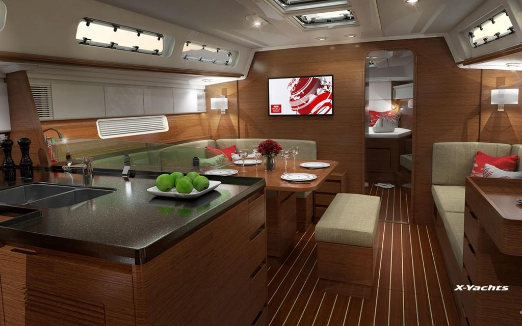 Il salone dell'Xc 45. Foto X Yachts