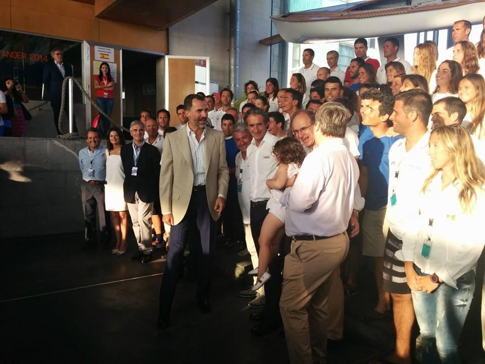 Felipe VI incontra la squadra spagnola