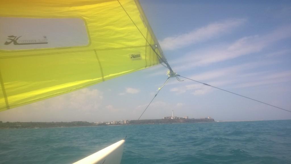 Uno scatto in navigazione. La veleggiata è proceduta tranquilla. Nei pressi di Termoli si è alzato un vento sui 15 nodi