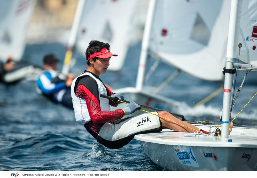 Gianmarco Planchesteiner, vincitore nei Laser Radial. Foto Taccola/FIV