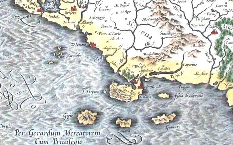 L'Isola Zanara in una carta antica, tra quelle in esposizione nella Mostra