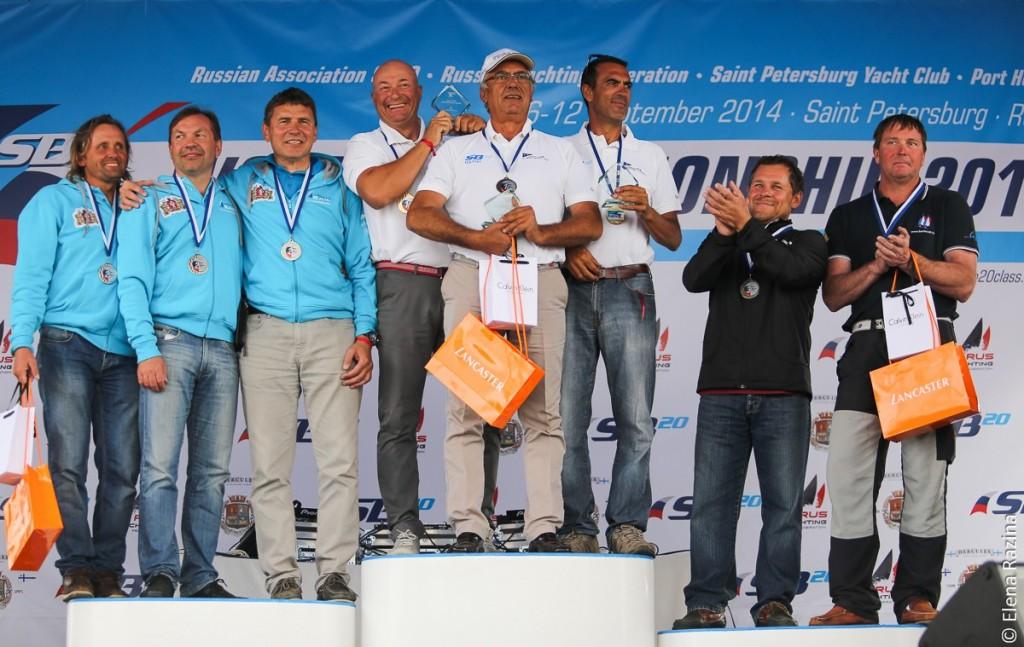 Il modio Master del Mondiale SB20, con l'equipaggio di Vincenzo Graciotti