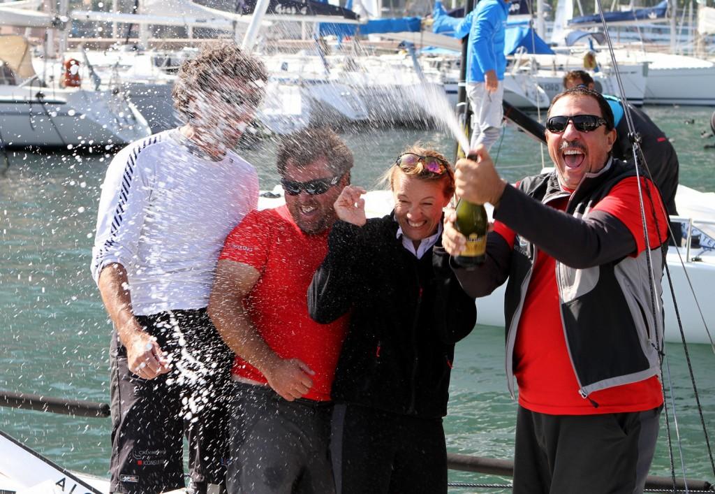 Alberini festeggia il titolo con il suo equipaggio