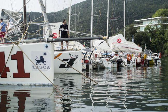 Una parte delle barche della Scuola Vela di Marco Nannini