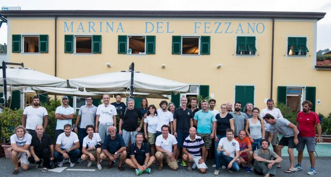 Istruttori e allievi all'Open Day a Marina del Fezzano
