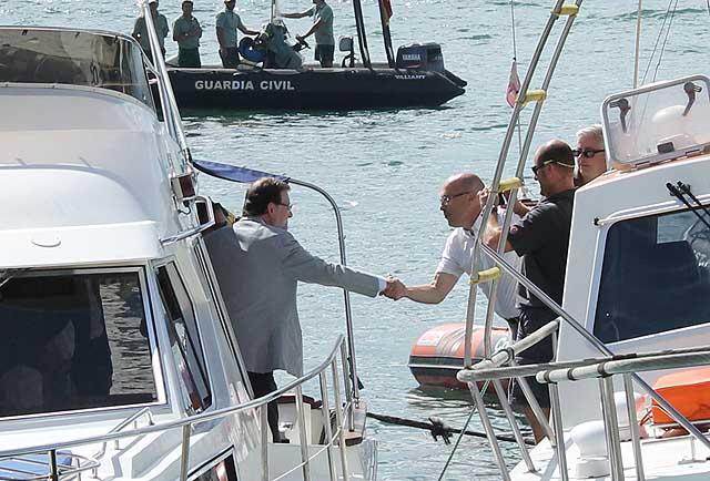 Mariano Rajoy si imbarca questa mattina a Santander