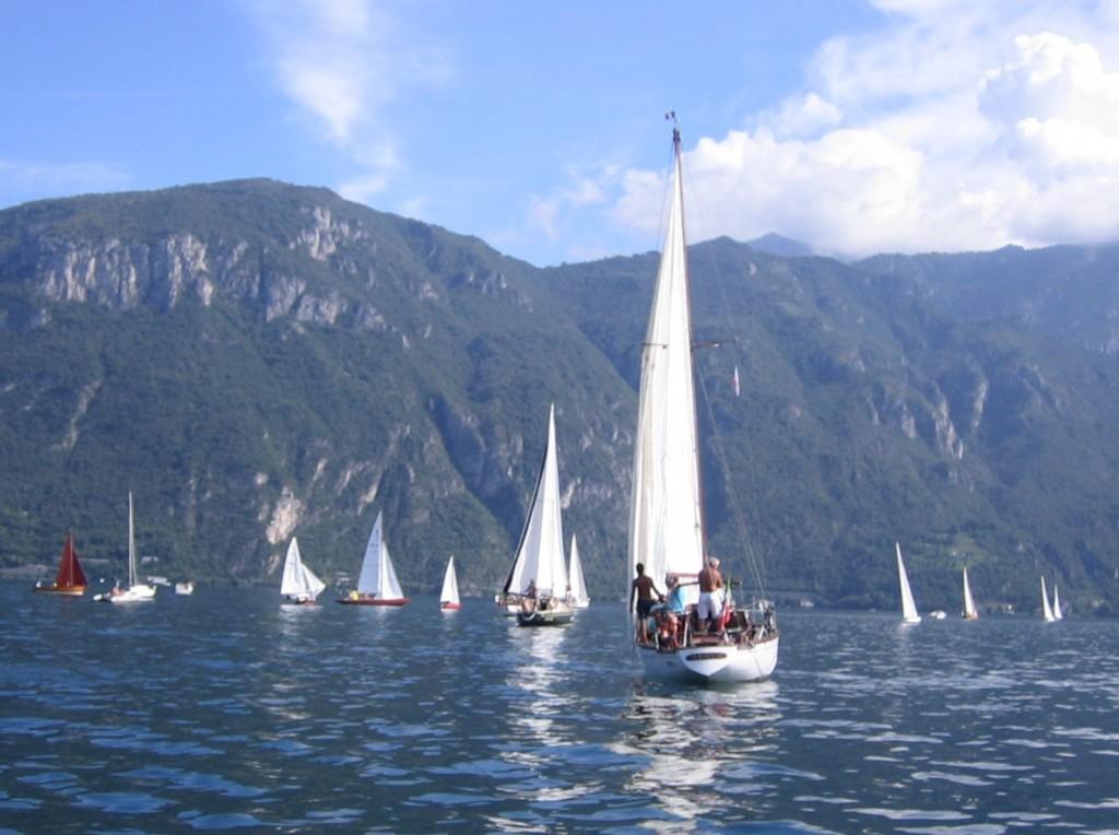 La flotta del Trofeo a Bellagio