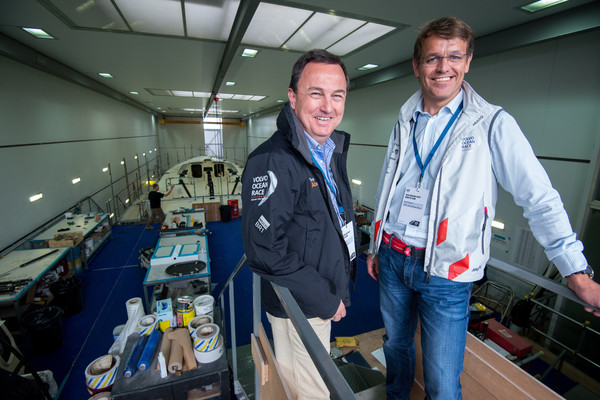 Knut Frostad con il CEO di Team Alvimedica nei VOR headquarter di Alicante. Foto Greenfield